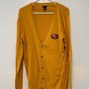 Homemade SF 49ers Cardigan, Size: Extra Large.